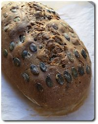 Pumpkin Seed Rye Bread