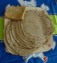Whole Wheat Sourdough Crepes
