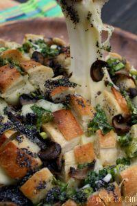 Bloomin' Mushroom & Swiss Sourdough Loaf