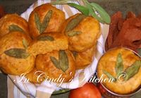 Tomato, Onion & Herb Rolls With Sage Leaves