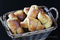Pumpkin Crescent Rolls With Honey Butter