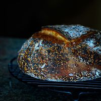 Semolina Bread With Sesame And Fennel Seeds