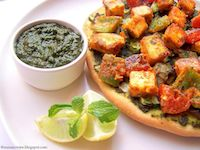 Paneer Tikka Tart / Grilled Cottage Cheese Tart