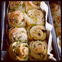 Green Onion Sesame Rolls