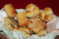 Eggless Dinner Rolls / Eggless Lion House Rolls