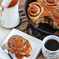 Chocolate Rolls With Coffee Icing
