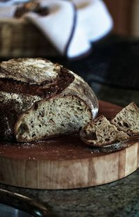 Wholewheat-Rye Bread With Flax And Sunflower Seeds