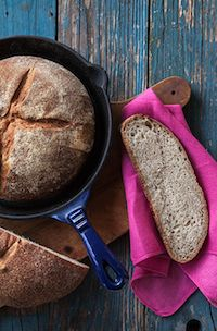 Wheat-Rye Sourdough In A Cast-Iron Skillet