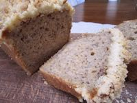 Sourdough Banana Bread With Crumbs