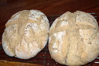 Sourdough Loaf With Caraway Seeds