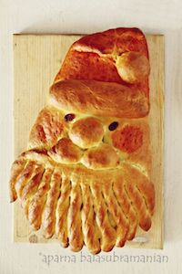 Golden Santa Bread