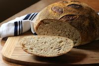 72% Hydration Whole Wheat Sourdough Boule