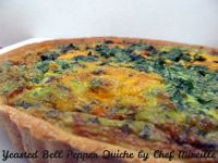 Yeasted Bell Pepper Quiche
