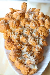 Sun Dried Tomatoes And Gruyere Pull Apart Bread