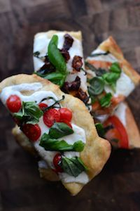 Focaccia Caprese With Smoked Mozzarella
