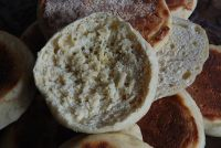 Wild Yeast Water Cheddar English Muffins