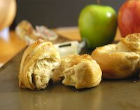 Cider Pretzel Knots Stuffed With Apples And Cheese