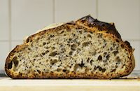 Spelt White Sourdough With Toasted Black Sesame