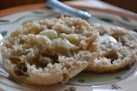Sourdough Oat English Muffins