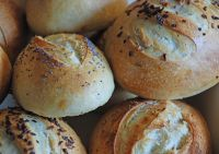 Durum Oat Sourdough Cream Cheese Rolls
