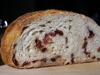 No-Knead Chocolate Cherry Berry Bread
