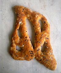 Black Rice And Onion Fougasse