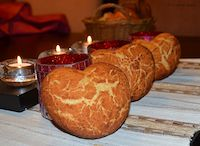 Heart Shaped Tiger Bread