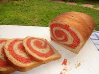 Whole Wheat Beet Swirl Bread