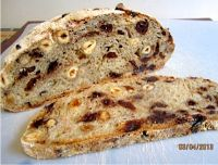 No-Knead Chocolate Cherry Hazelnut Bread