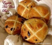 Eggless Hot Cross Buns