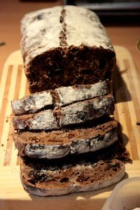 Sourdough Chocolate Bread With Raisins