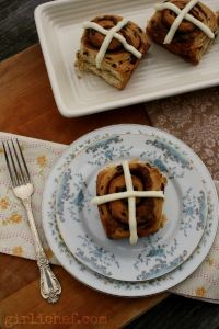 Hot Cross Cinnamon Buns