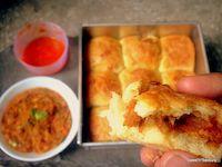 Stuffed Pav Bhaji Bread