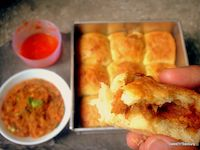 Stuffed Pav Bhaji Bread