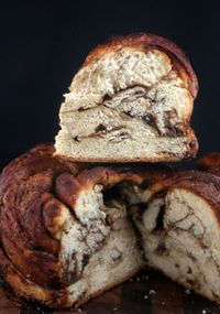 Vanilla Bean Brown Butter Cinnamon Swirl Challah