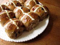 Chocolate Porter Sourdough Hot Cross Buns