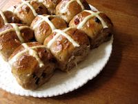 Chocolate Porter Sourdough Hot Cross Buns