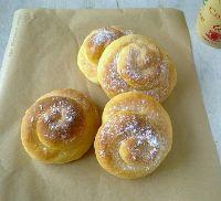 Sweet Coconut-Saffron Snail Buns