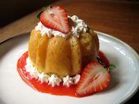 Mini Strawberry Savarins