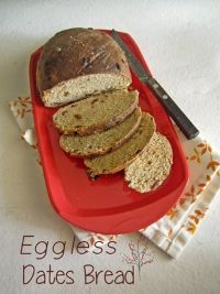 Eggless Dates Bread