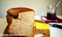 Plantain Oatmeal Bread With Walnuts