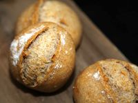 Rustic Organic Joghurt Rolls With 38% Whole Wheat