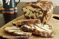 Marbled Chocolate Brioche Loaf
