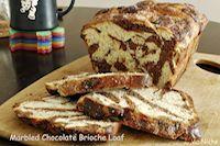 Marbled Chocolate Brioche Loaf