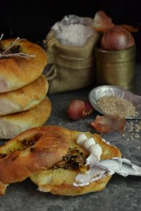 Bialys With Toasted Shallots & Tamarind Relish