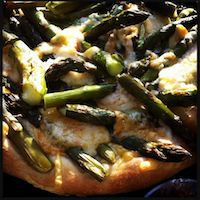 Asparagus & Cheese Fondue Pizza With A Biga