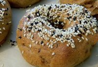 Sesame Sourdough Bagels
