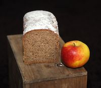 Organic Wholemeal Rye Bread With Mashed Apples