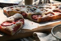 Fast Focaccia W/ Strawberries