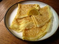 Sourdough English Pancakes With Lemon And Sugar